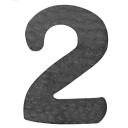 """Číslica kovaná """"2"""" h120, t2mm"""