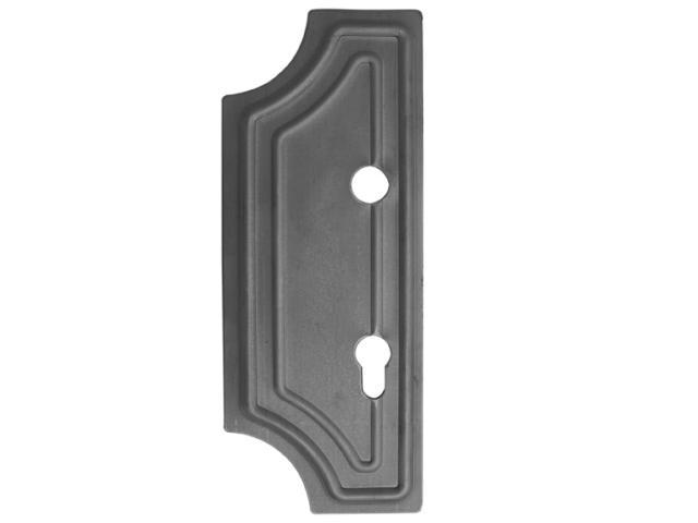 Štítok bránový zdobený - ľavý 285x112, t2,5, d20mm