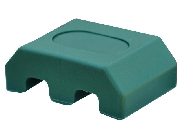 Úchyt na stĺpik 40x60mm PVC zelená