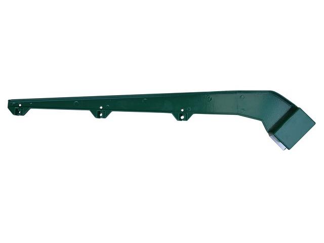 Bavolet jednoramenný AlPVC RAL6005 60x40mm
