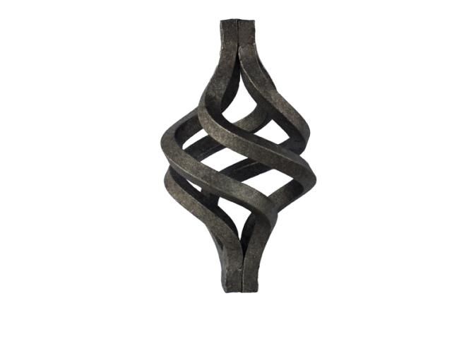 Šiška, Kovaný plot h160, D95, 20x20mm