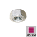 Stainless steel screw nut AISI316, M10mm