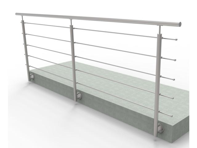 Balustrada nierdzewna, AISI304, 3000x1000mm, BR