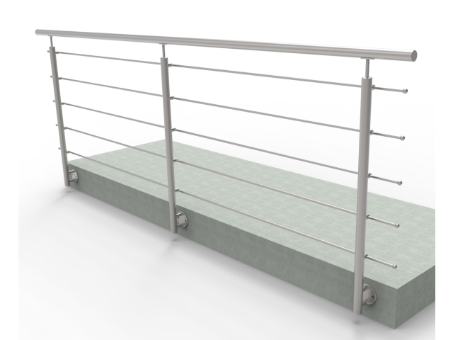 Stainless railing, AISI304, 3000x1000mm, BR
