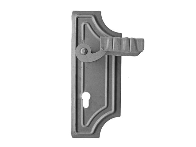 Kľúčka so štítkom pravá bez PÚ h280, b150, b 3mm