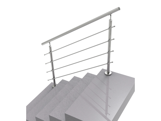 Railing AISI304-polished, VR STAIRS AISI304, D42,4