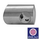 Nerezový úchyt prutů AISI316, d12/D48,3x2mm