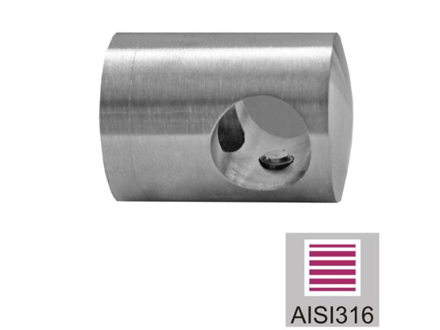 Nerezový držák prutů AISI316, d12/40x40x2mm