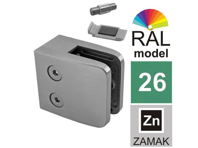 Úchyt skla ZAMAK, COLOR, 40x40x2/52x52mm