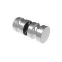 Brushed back-to-back knob AISI 304, K320, 32mm
