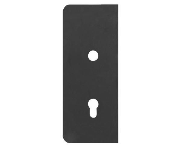 Štítok bránový hladký 265x105, t2, 90mm