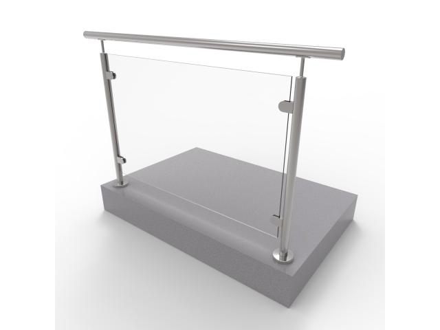 Glass railing, 1504x1000mm