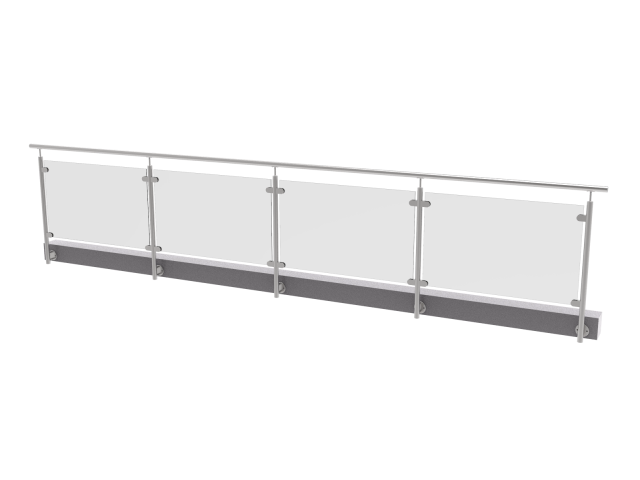 Glass railing, 5350x1000mm, BR