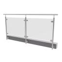Glass railing, 2786x1000mm, BR
