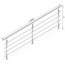 Railing JP, VR STAIRS AISI304, 40x40x2/4xd12/H900/