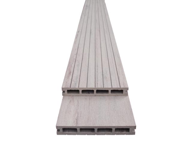 Woodplastic composite floorboard WPC Black/White