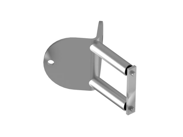 Circular side anchoring AISI316, D100/d42,4x2mm, 9
