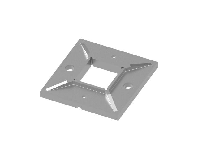 Bodenflansch AISI316, D100x100/d40x40x2mm