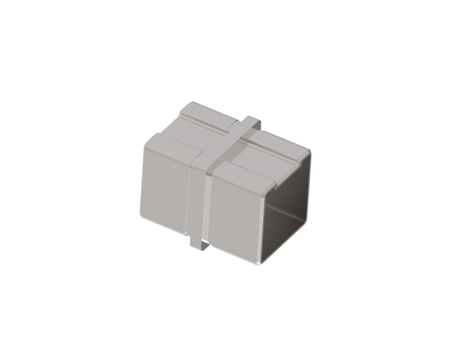 Flush angle - connector AISI316, 40x40x2mm
