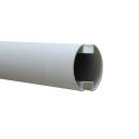 Schrankenbaum, oval AL - 69x92x3150mm
