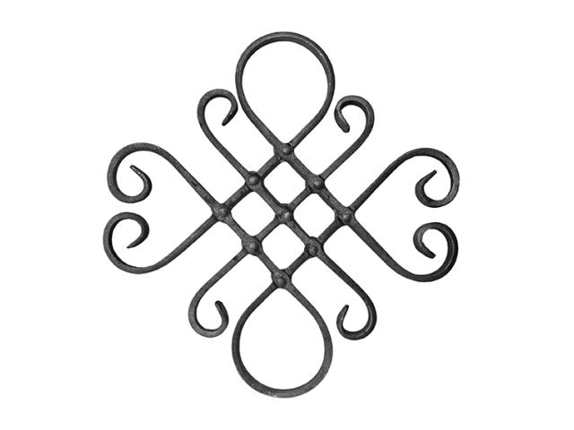 Rozeta kovaná,květ list, plot,brána,zábradlí h410,