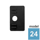 Rubber inlay for glass clamp  17,52mm, model 24 T1