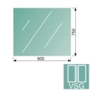 Clear, laminated glass 8,76-900x750-VSG