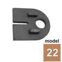 Těsnění T=1,5mm do držáku plechu model 22 T1,5/63x