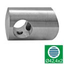 Uchwyt przelotowy na pręt 16 AISI304, d16/D42,4x2/