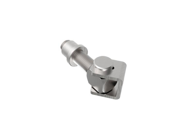 Adjustable hinge for weld connection M12, AISI 304