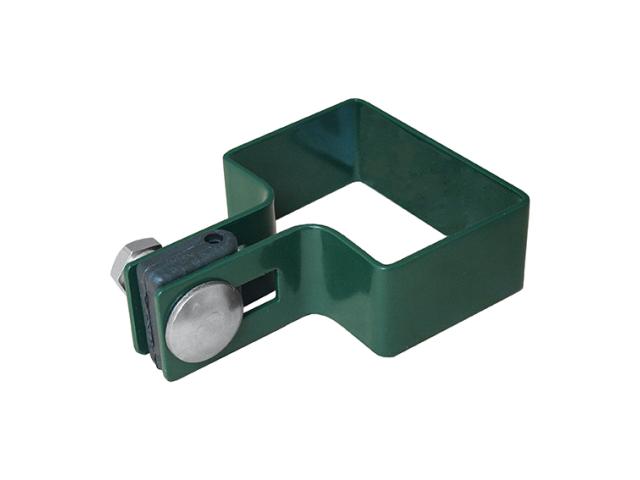 Objímka koncová na stĺpik ZnPVC 40x60mm zelená M