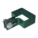Objímka koncová na stĺpik ZnPVC 60x40mm zelená M