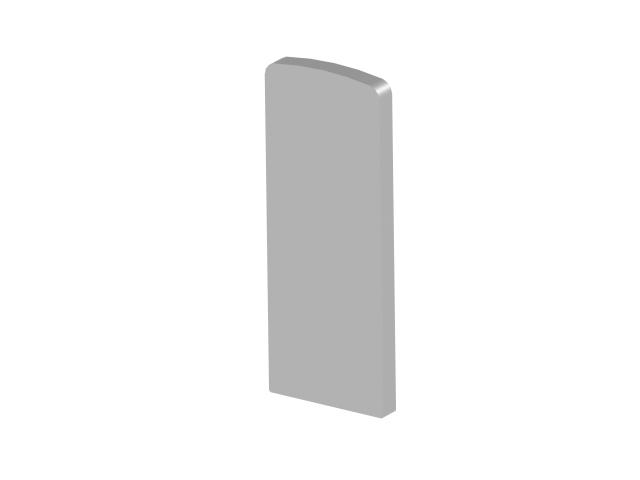 Záslepka profilu, 125x46 - imitace nerez AL/INOX e