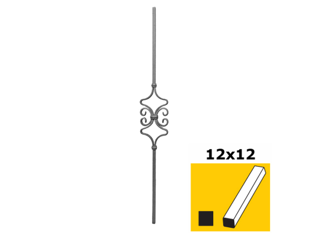 Tyčka zdobená h900, b120mm, 12x12mm
