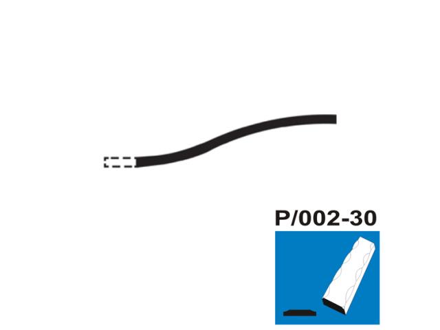Fačeta P/002-30x5, p300, L2900mm