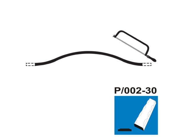 Fačeta P/002B-30x5, p300, L4410-5800mm