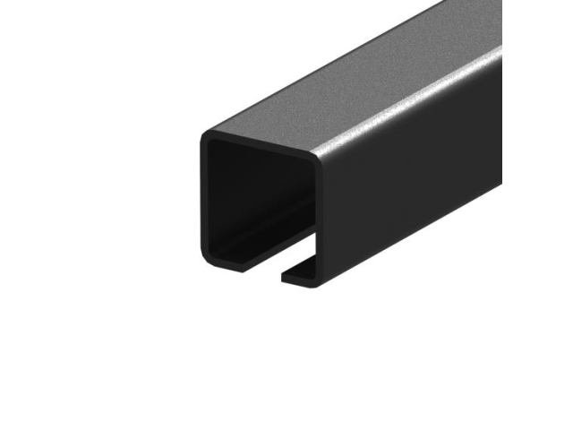 Guiding track Fe, 80x80x5mm, for cantilever gate