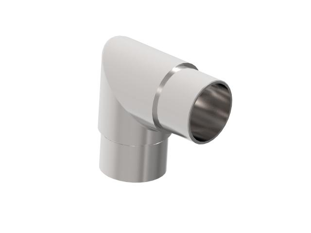 Flush angle AISI316, D42,4x2mm/90°
