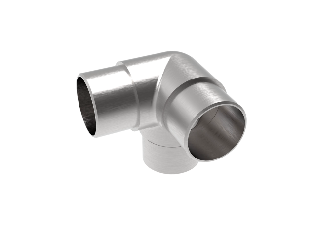 Eckverbinder 90° mit Abgang AISI316, D42,4x2mm/90°