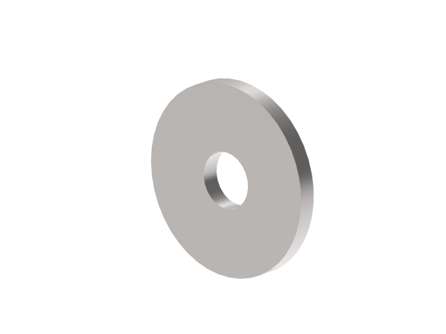 Endkappe mit Öffnung AISI304, D40/d12,5/t4mm
