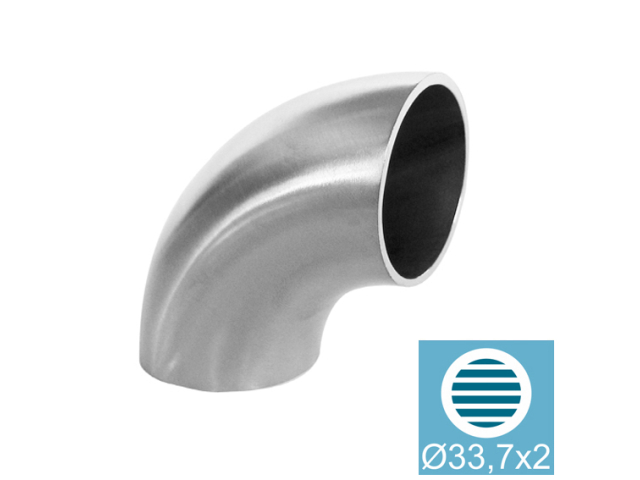 Kolanko do wspawania AISI304, D33,7x2mm/90° natura