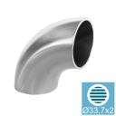 Welding elbow AISI304, D33,7x2mm/90° natural