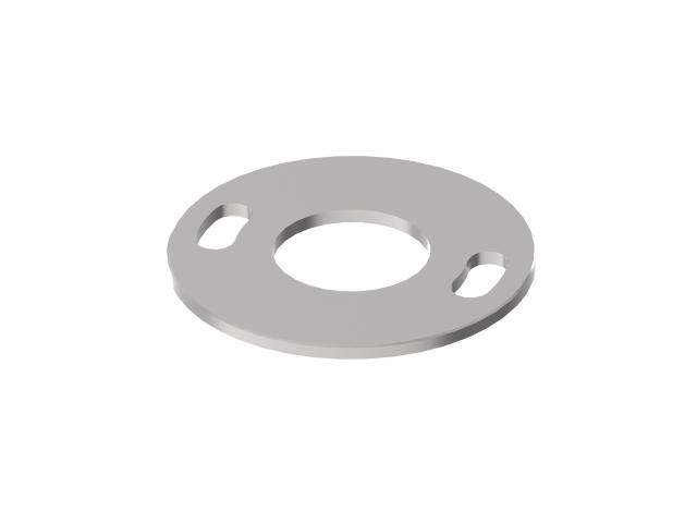 Welding blind plate AISI304, D100/42,4mm, 2x d11x2