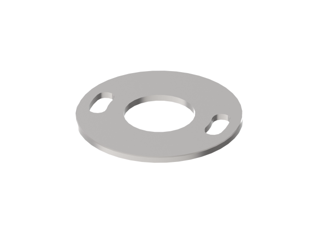 Ankerplatte AISI304, D100/42,4mm, 2x d11x25, t4 ra