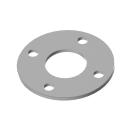 Welding blind plate AISI304, D100/42,4mm, 4xd11, t
