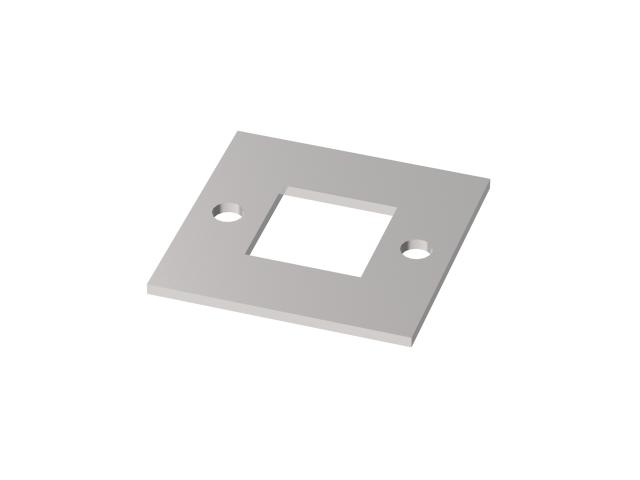 Kotvenie vrchné - príruba štvor. AISI304, 92x92, 4