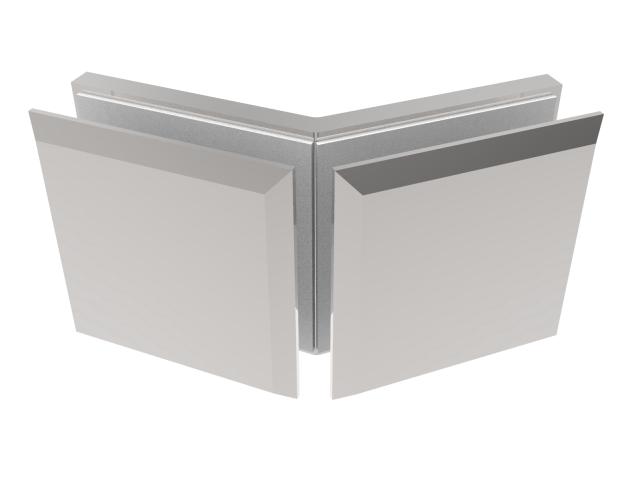 Zasklenie pevne - spojka skla 135° Zamak,T 8-10 mm
