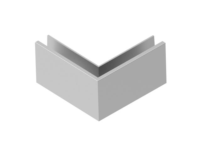 Kotvění vrchní - sklo hliník AL/ELOX/Satin L195mm,