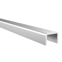 Handrail for glass AL-elox, 18x12/T14/L6000mm