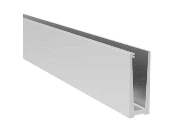 Aluminum profile for glass